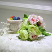 Anself 10 главы цветок искусственный поддельные пион букет для дома Свадебные украшения