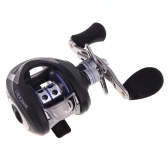LMA200 10+1BB Ball Bearings Right Hand Bait Casting Fishing Reel High Speed 6.3:1 Black