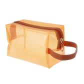 Bolso cosmético de jalea conforman baño translúcido Sunbag caso Color caramelo