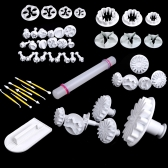 46pcs Cake Fondant Gumpaste Embossing Modelling Craft Decorating Tools Set