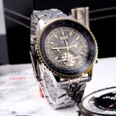 Jaragar automático auto-liquidación reloj de pulsera mecánico con pantalla analógica Correa acero inoxidable lujo diseño volante oro y negro