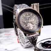 Jaragar Automatic Self-winding Mechanical Wrist Watch with Analog Display Stainless Strap Luxury Design Balance Wheel Gold & Black
