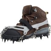 1 пара 12 зубов когтями кошки не нескользкие обувь покрытия из нержавеющей стали цепи открытый лыж льда снег Пешие прогулки восхождение серый