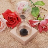 1pcs imán Awaglass reloj de arena temporizador de soplado a mano decoración de escritorio magnético negro de reloj de arena