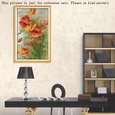 35 * 52cm Kits de broderie au point de croix 14ct en motif de Fleurs de pavot Croix-Couture Décoration mural