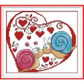 Bordado artesanal DIY contados ponto cruz bordado conjunto Kit 14CT caracol casais padrão atarefada 20 * 18cm decoração Home
