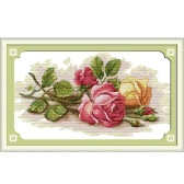 45 * 29cm Kits de broderie au point de croix 14CT en Motif de Belle Rose Croix-Couture Décoration de chambre