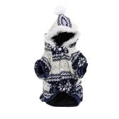 Vêtements pour animaux de compagnie chien chaud doux vêtement manteau Hooded Sweat à capuche pour l