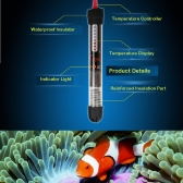 Submersible Heater Heating Rod for Aquarium Glass Fish Tank Temperature Adjustment 220-240V