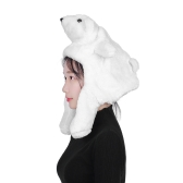 Cartoon Cap Warm Winter Hat Bianco