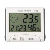 LCD Digital Thermometer Hygrometer Temperature Humidity Meter Clock w/ Magnetic
