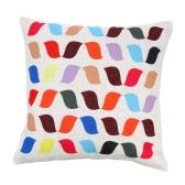 Algodão de correspondência de cor colorida e fronha de linho volta almofada capa capa de almofada para cama sofá carro casa Decor decorativo 45 * 45cm