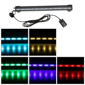 31cm 4.1W 12 LEDs burbuja acuario 120 grados luz RGB 15Colors IP68 sumergible remoto Control peces tanque LED Light Bar