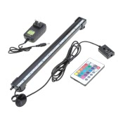 31cm 4.1W 12 LED Bubble Aquarium léger 120 degrés RGB 15Colors IP68 Submersible Remote Control poisson réservoir LED Light Bar