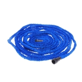 75FT Expandable Ultralight Garden Hose Fittings Set Flexible Water Pipe + Faucet Connector + Fast Connector + Valve + Multi-functional Spray Nozzle Blue