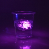 Mini Leuchtend LED Kunsteis Würfel Hochzeit Party Dekoration Rosa