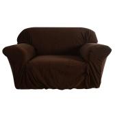 Hochwertige elastische weiche Polyester Spandex Schutzhülle Couch Sofa Cover 2 Sitzer braun
