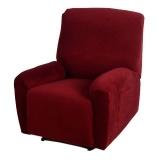 Segunda mano de alta calidad elástica poliéster suave Spandex One Seater cubierta reclinable Borgoña