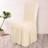 Second Hand Pleated Solid Color Ruffled Stretchable Removable Washable Home Dining Chair Cover Spandex Seats Slipcover for Wedding Party Hotel Dining Room