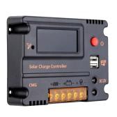 20A 12V 24V LCD Solar Charge Controller panel baterii Regulator automatyczny wyłącznik zabezpieczający przed przeciążeniem kompensacji temperatury