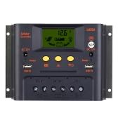30A 12V/24V Solar Charge Controller PWM Charging LCD Display Auto Regulator Battery System Street Lighting Temperature Compensation