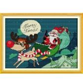 33 * 23cm DIY estilo Nova contado Cross Stitch conjunto bordado bordados Kits feliz Natal padrão Cruz costura decoração Home 14CT