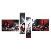 4Pcs Malowane ręcznie malarstwo olejne Flowing Lines Nowoczesna Abstrakcja obraz dla domu Pokój dzienny Sypialnia Urząd Decoration Hotel
