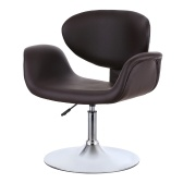 Second Hand iKayaa Modern Ergonomic Adjustable PU Leather Salon Barber Chair Stool Padded Pneumatic Haidresser Chair