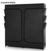 Second Hand iKayaa Classic Double Zipped Up Fabric Closet Wardrobe Cabinet Large Clothes Storage Organizer Garment Clothing Hanger Rack