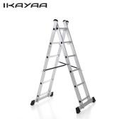 IKayaa de seconde main 4 dans 1 capacité polyvalente EN131 d'échafaudage de tour de plate-forme de travail de plate-forme de bricolage en aluminium de bricolage multi-étapes