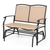 Deuxième main iKayaa 2 personne patio balançoire planeur chaise fauteuil causeuse Textliene jardin extérieur chaise berçante Seating cadre en acier