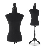 "Second Hand iKayaa Female Mannequin Torso Dress Form with Wood Tripod Stand Pinnable Size 34"" 26"" 35"""