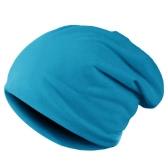 Nova moda homens mulheres gorro cor sólida hip-hop desleixo Unisex malha Cap chapéu azul de céu