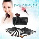 32Pcs Профессиональный набор кистей для макияжа Essential Косметика Макияж Кисти Kit Black Powder Brush Тени для век Подводка бровей Кисть + кожаный мешок