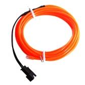 3M Flexible Pomarańczowy Neon Light EL Lina stalowa Rura z kontrolerem