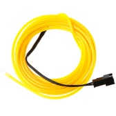 3M Yellow Flexible Neon Light EL Wire Rope Tube with Controller