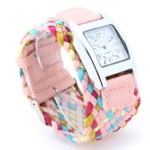 Women's Stylish Braided Strap Wrist Watch