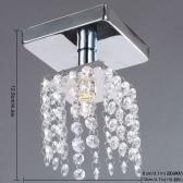 Мини-Люстра в хрустальная света лампы освещения хромированная отделка 220-240V