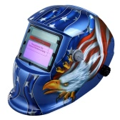 Solar Auto Darkening soldagem capacete soldadores máscara Arc Tig Mig moagem Eagle Blue