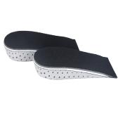 Мужчины женщины увеличение высоты, которую высоко половину вставки ботинка пены памяти стельки подушки колодки 3.3cm/1.3in