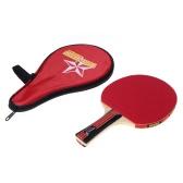 Langer Griff Shake Hand Tischtennis Schläger Ping Pong Paddel + Wasserdichte Tasche Beutel rot
