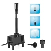 5W Submersible Water Pump with LED Light for Aquarium Fish Tank Pond Garden Bird Bath Fountain 500L/H AC 220V