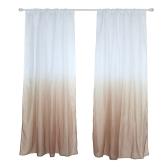 39 * 79 pouces Polyester Semi-Blackout Gradient Couleur Fenêtre Rideau Panneau Salon Chambre Hôtel Divider Voile Rideau avec Rod Poche - Vert