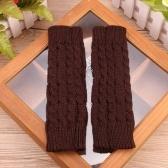 Mode hiver unisexe réchauffeur bras doigts tricotés longs gants mitaines mignon