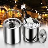 2L / 3l bicouche inox isolation seau à glace tonneau de vin froid ustensiles vin seaux à glace avec couvercle et poignée portative