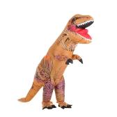 Vestito da costume di dinosauro gonfiabile divertente di dinosauro del mondo di Jurassic