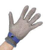 De haute qualité de protection Cut sécurité Stab résistant en acier inoxydable 316L Métal Wire Mesh Glove pour boucher Cuisine de travail avec un gant en nylon