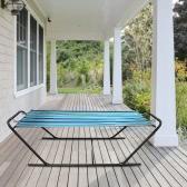iKayaa Outdoor Garden Portable Hammock with Steel Stand Heavy-Duty 150KG Capacity Hanging Single Hammock for Camping Beach