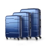 "TOMSHOO Conjunto de bagagem de luxo 3PCS Spinner Shell rígido 20 ""/ 24"" / 28 ""Carry-on Suitcase PC + ABS Trolley W / Combination Lock"