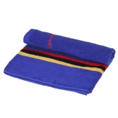106cm Long Sweat Absorbant Cotton Sports Towel Running Travel Gym Yoga Pilates Exercise Serviettes - Bleu